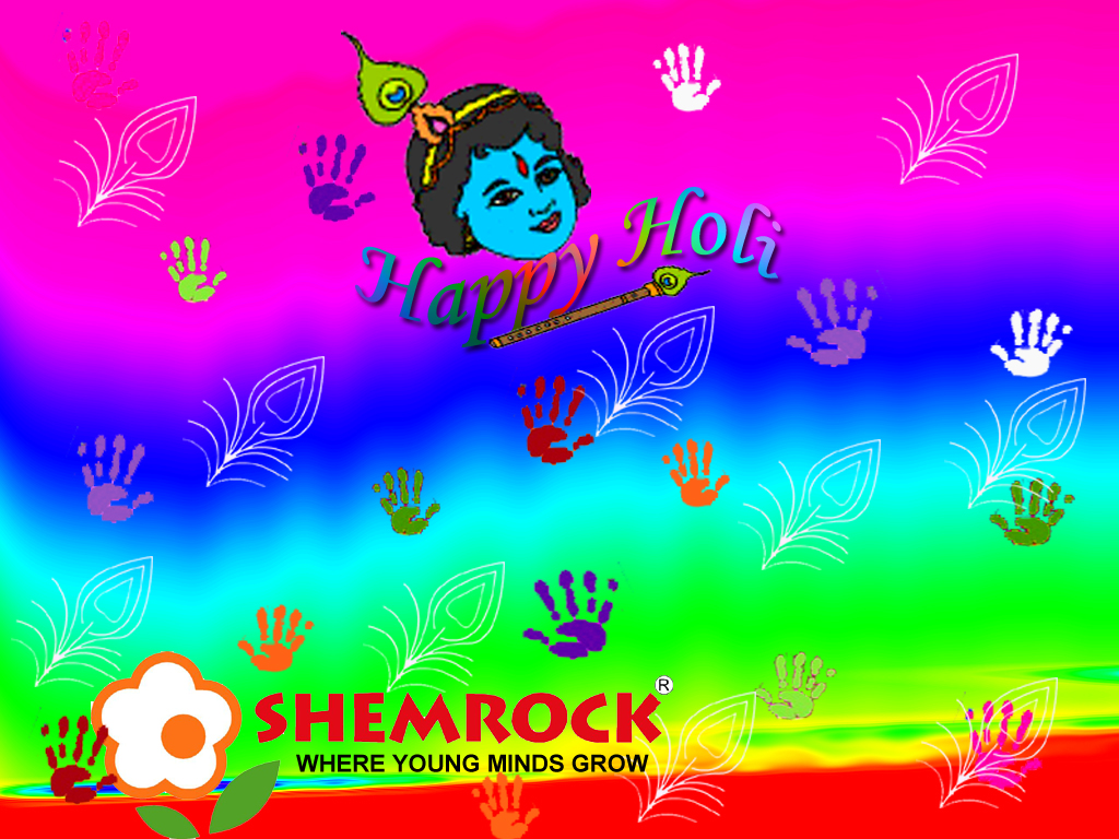 Shemrock play school - Holi celebration