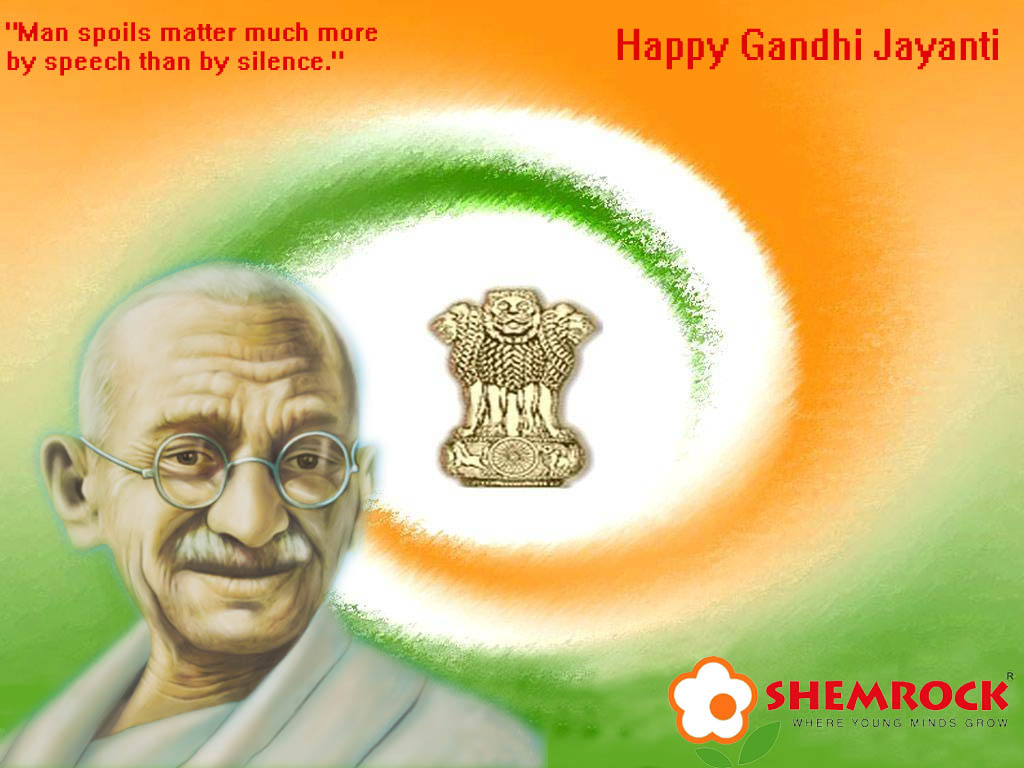 happy gandhi jayanti 2nd october smswisheswallpapers