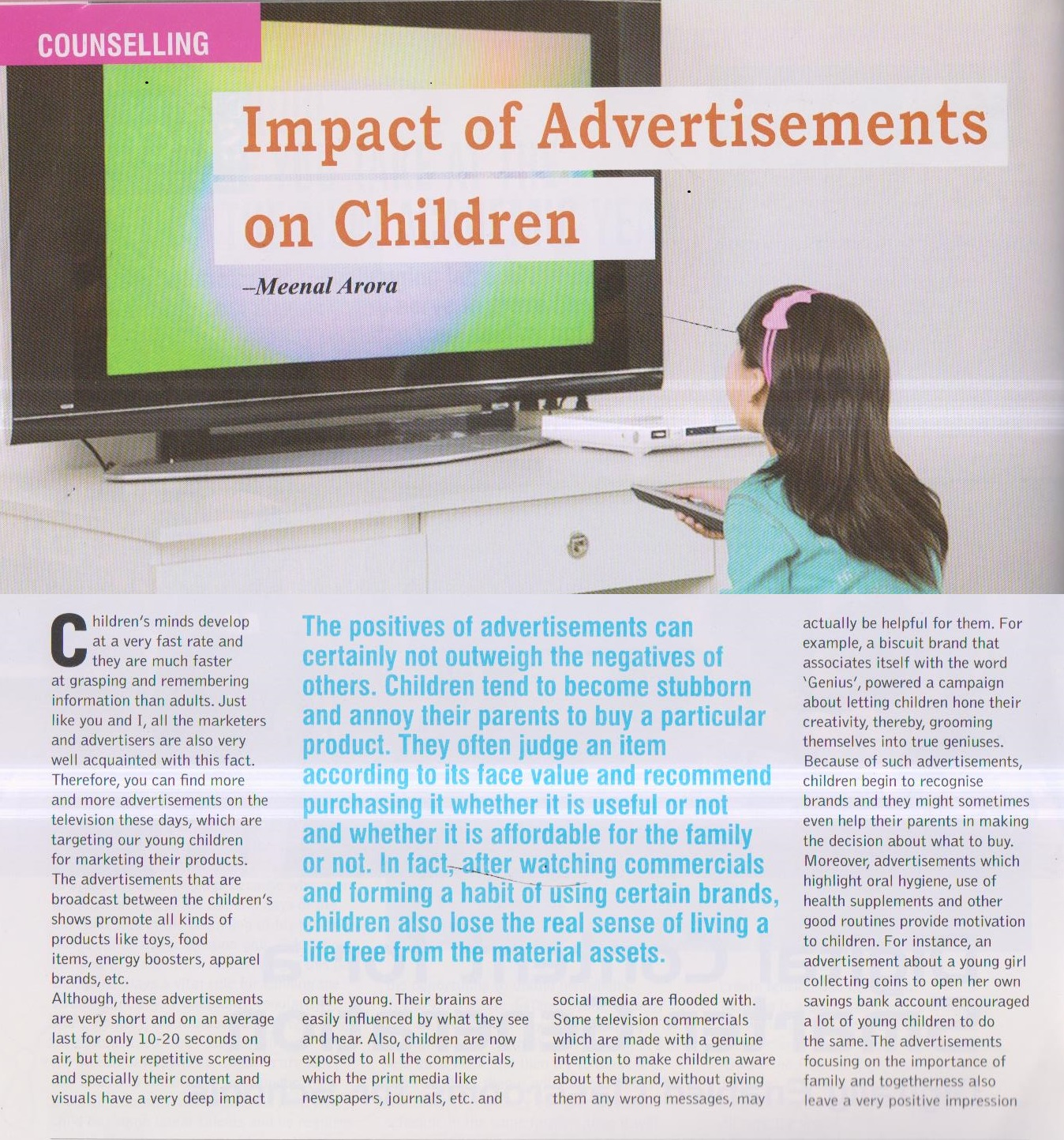 effects of advertisement on indian children Doi: 109790/487x-1807016872 wwwiosrjournalsorg 68   page impact of  child food advertising on indian parents and it's the impact on the rise of  obesity.