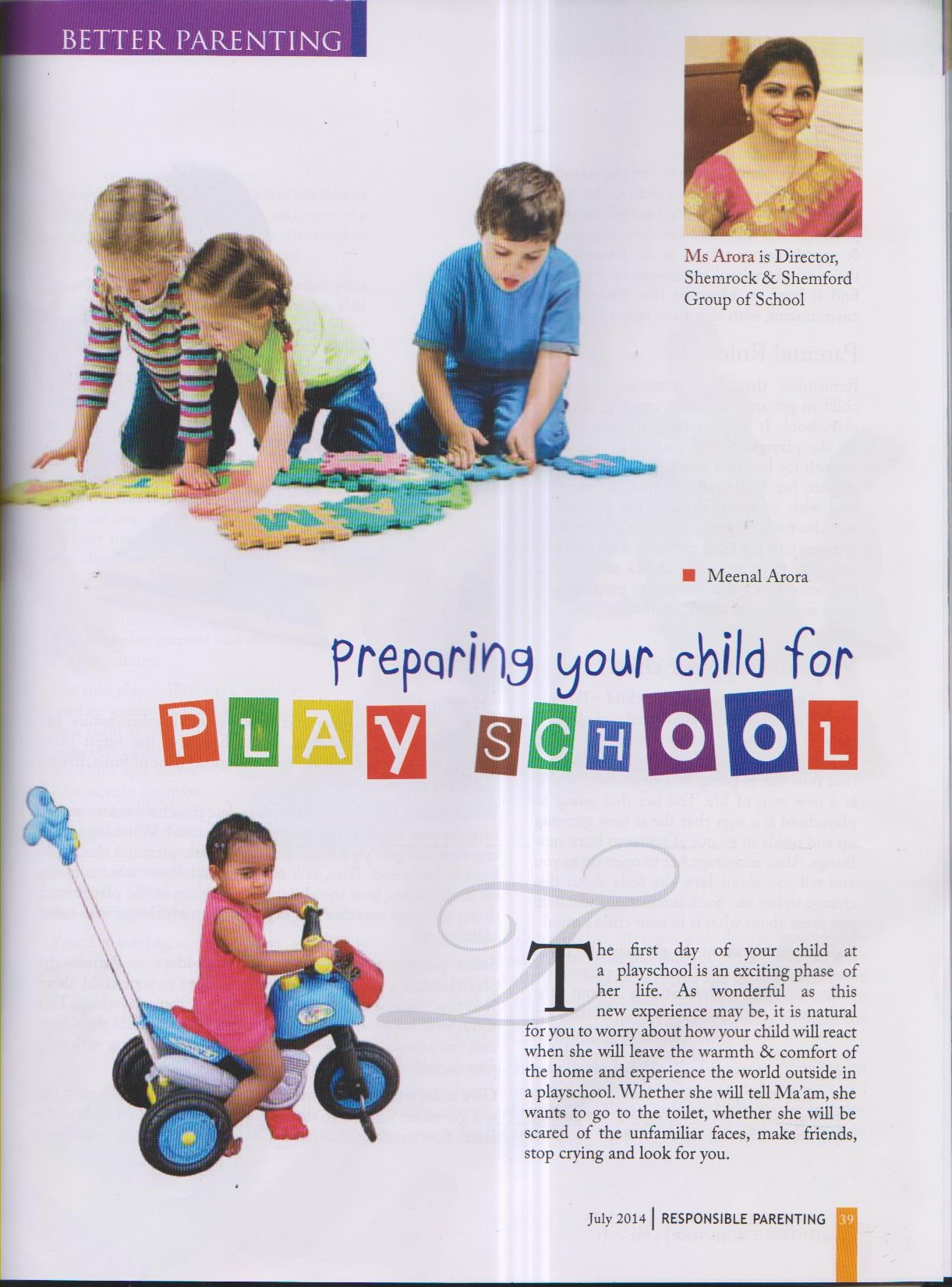Preparing your child for playschool