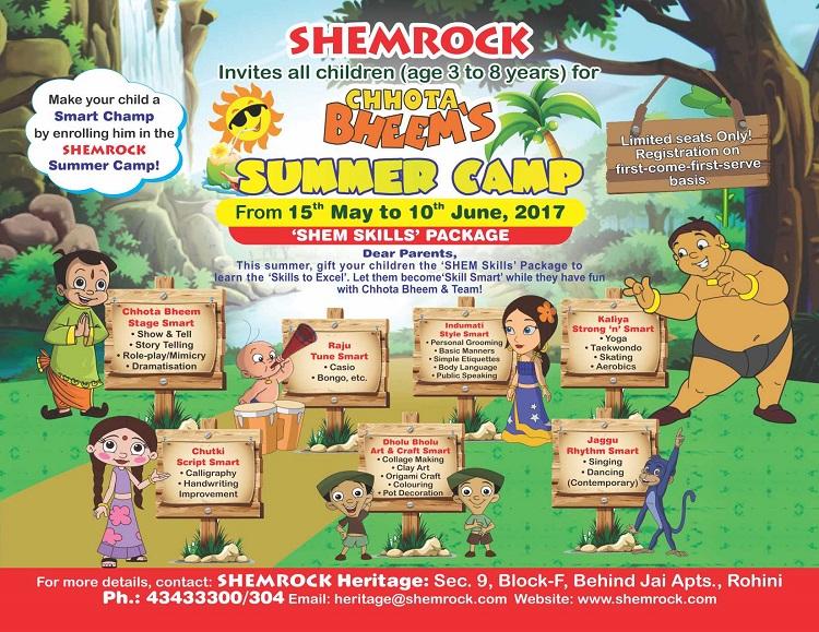 SHEMROCK Chhota Bheem Summer Camp 2017